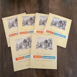 Leesboekjes M B Hoogeveen Aap Noot Mies 1 t/m 6