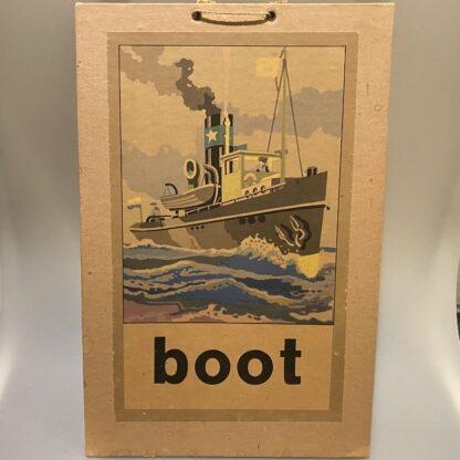 schoolplaat boot